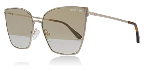 Tom Ford FT0653 28B Shiny Rose Gold Helena Cats Eyes Sunglasses Lens Category 1 Lens Mirrored Size 59mm