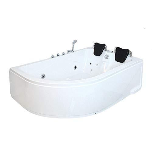 Home Deluxe - Whirlpool - Blue Ocean XL Links - Maße: 180 x 120 x 65 cm - inkl. komplettem Zubehör