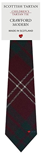 I Luv Ltd Garçon Tout Cravate en Laine Tissé et Fabriqué en Ecosse à Crawford Modern Tartan