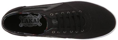 Lakai - Sneaker Manchester Lean, Uomo Nero (Schwarz - Noir (Black Canvas))