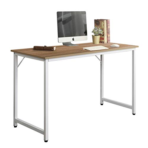 sogesfurniture Schreibtisch Computertisch Klein, Kompakt Esstisch Arbeitstisch Bürotisch für PC und Laptop, aus Holz und Metall, BHT ca.100x50x75cm, Eiche WK-JJ100-OK-BH -