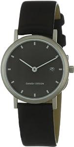 Danish Design 3326180 - Reloj de mujer de cuarzo, correa de piel color negro (con fecha) de Danish Design