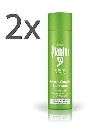 Plantur 39 Phyto-Coffein-Shampoo, 2 x 250 ml - Haarausfall vorbeugen, speziell für feines und...