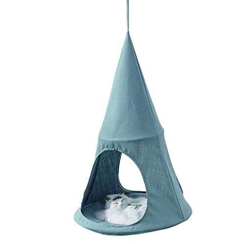 Sortim Katzen Hängematte Atmungsaktiv Cozy Kegel Form Wandbehang Bett Ruhender Sonnig Sitz - Blau, 1 - Kegel Sitz