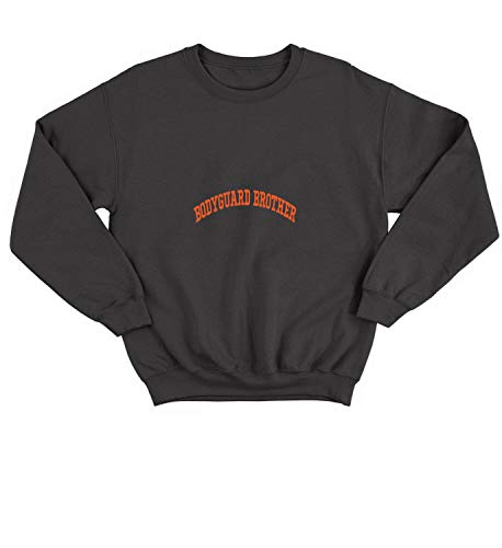 LumaCrewnecks Family Bodyguard Brother_009683 Cute Funny Sweater Sweatshirt Pullover Present - LG Black Crewneck Lg Black Crystal