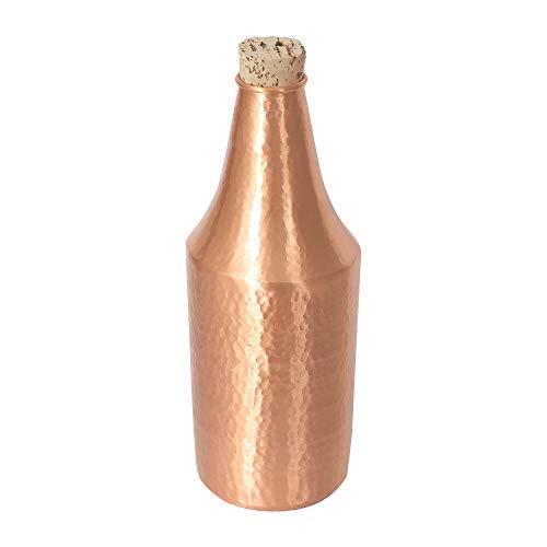 De Kulture Baseball-Kappe funktioniert Kupfer Flasche (mit Kork) Ich reines Kupfer von Hand gehämmert Flasche Ich indischen Traditionelle Coppper Fläschchen, Karaffe 750.ml -