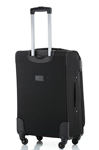 31WC2DHvtkL - Beibye 4ruedas maleta de viaje 8005plástico maletín equipaje Maleta Juego de L XL de m en 5colores, negro