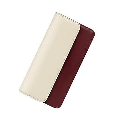 ZLR Mme portefeuille Portefeuille en cuir à la longue section en cuir Wallet Portefeuille en cuir pleine longueur