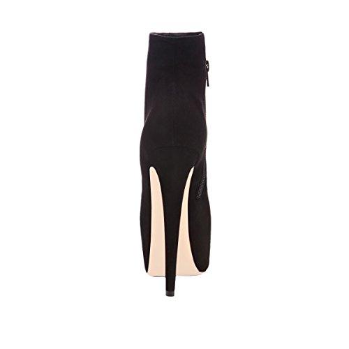 Onlymaker Damen Pumps Stiletto Stiefel High Heels Kurzschaft Stiefelette mit Plateau - 4