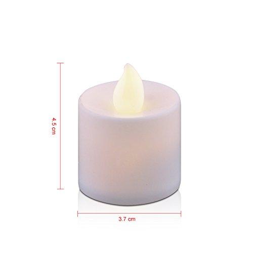 jingxu Set de 3velas LED sin llama velas 12Cambio de color velas con RC Control