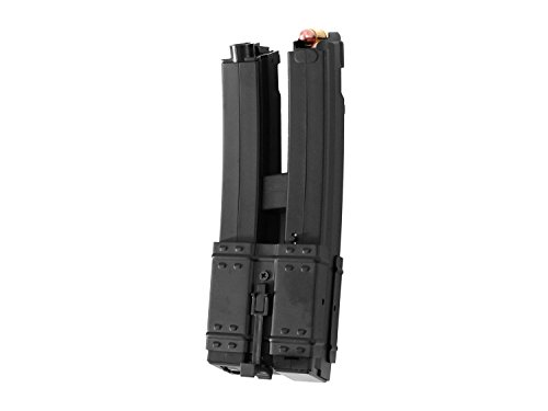 Battleaxe Softair / Airsoft MP5 Metall Elektro Dual Highcap Magazin (500 BBs) - schwarz- -