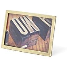 Umbra Senza - Marco de fotos (10 x 15 cm), color latón