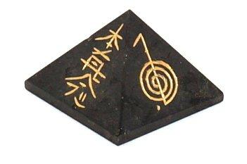 Honig Onyx Stein (Schwarz Turmalin 25–30mm echten Edelstein Reiki Chakra Heilung Set Vastu Balancing Gravur Pyramid, viel Glück Pyramid (Chakra Balancing Pyramid (schwarz Turmalin 25–30mm))