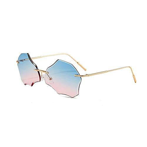 WULE-RYP Polarisierte Sonnenbrille mit UV-Schutz Ocean Sonnenbrillen, Mode farbige unregelmäßige UV-Schutz Sonnenbrillen Superleichtes Rahmen-Fischen, das Golf fährt (Farbe : Blue/Pink)