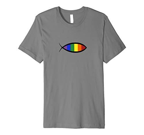 Rainbow Ichthys Zeichen der Fisch Jesus T Shirt - Jesus-fisch-shirt