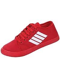 SKYMATE Red Smart Sneakers for Kids/Boys(8yr-15yr)