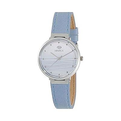 Reloj Marea Analógico Mujer B54162/2 con Correa de Piel Azul Claro, Caja de Acero y Esfera en Degradado