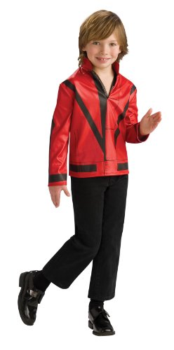Michael Jackson™-Jacke (Thriller) für Jungen - 7-9 (Michael Jacke Jackson Kostüm Thriller)