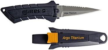 Mares Argo Titanium - Cuchillo, color negro, talla BX