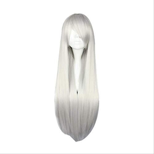 Mhsm Perücke, 15 Farben, 80 cm, lang, glatt, für Cosplay-Kostüm, Damen, Kunsthaar, 38 cm (Hermine Kostüm Haar)