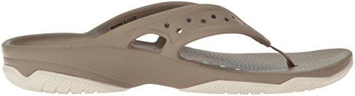 crocs Herren Swiftwater Deck Flip Men Zehentrenner Braun (Khaki/stucco)