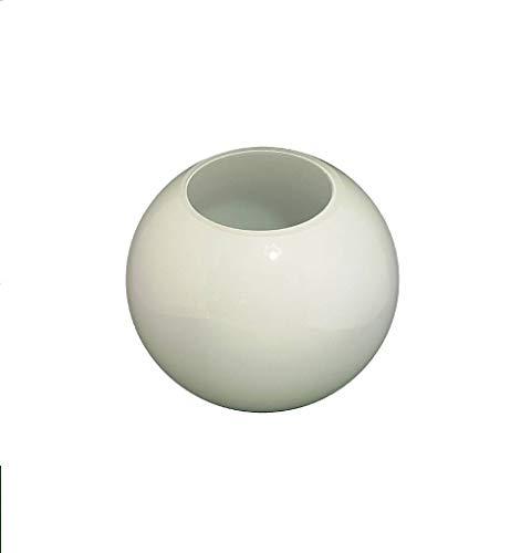 C Smethurst 14.0cm diamètre Verre Blanc Sphériques Abat-jour avec aucun Collier. Circonférence: 53cm, Trou: 7.5cm dia. [éclairage lumière ballon rond sphère remplacement lustre globe]
