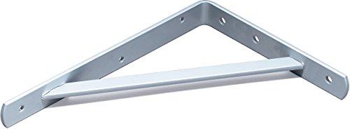 Schwerlastkonsole Samson / Schwerlastträger / 3 Farben / 3 Größen / 2 Stück / weißalu/ 210 x 300 mm (Für Konsolen Regal)