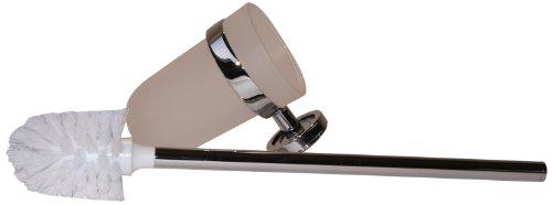 Emco 071500100 Toilettenbürstengarnitur Polo Stiel Kristallglas satiniert, chrom