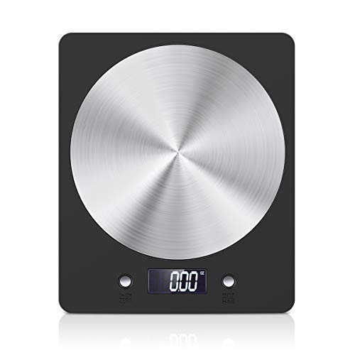 Amir bilancia da cucina digitale, bilancia da cucina elettronica da 11lb / 5000g, bilance con display lcd, gram accurata, design sottile, per casa, cucina