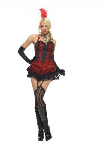 Kostüm Burlesque Express - Leg Avenue Burlesque Tänzer Damen Kostüm Express Fancy Dress Express Fancy Dress - Mehrfarbig, Womens: 8-10