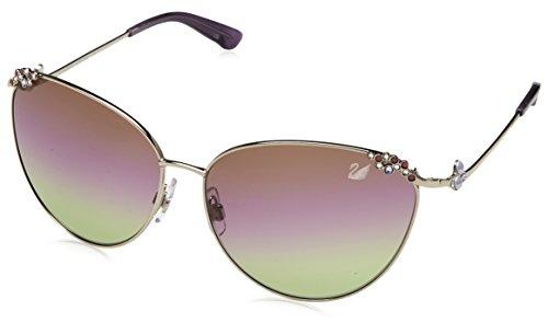 Swarovski Damen SK0026-6216Z Sonnenbrille, Silber (Shiny Palladium/Gradient), 62