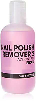 Salon System Profile Pink Nail Polish Remover Acetone Free for Sculpted and Artificial Nails 125ml