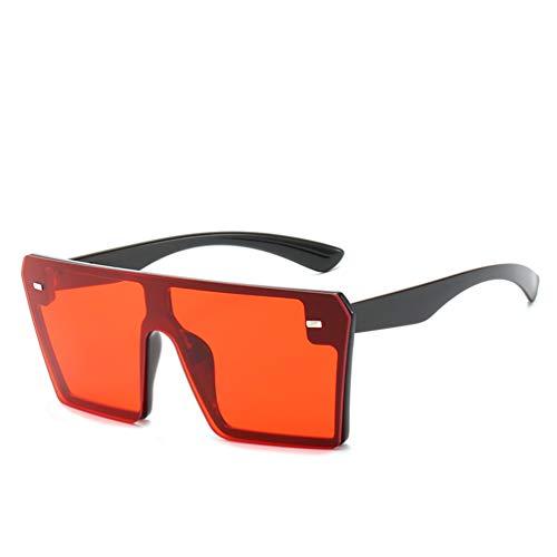 FILTERQ Für männer & Damen XL Große Übergroße Super Flat Top Platz Zwei Ton Farbe Mädchen Mode Sonnenbrillen EIN Stück Farbige Gläser Reis Nagel,C2