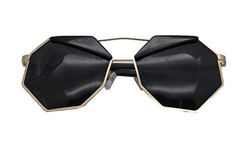Hemio Frauen Anti-UV Sonnenbrille Vintage Achteck Farbfilm Sonnenbrillen Metal Driving Brille Fahrradbrille Vintage-Stil Sonnenbrille Frau Herren Mode