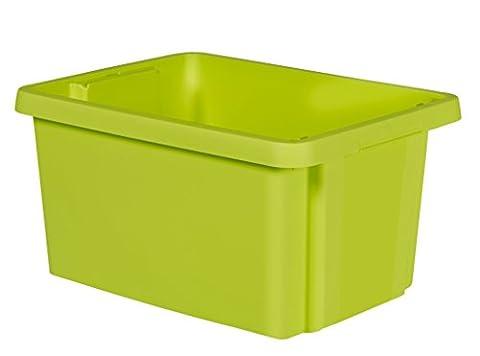 Curver 00749-598-00 Essentials Boîte à Empilage Plastique Vert 39 x 29,5 x 20,3 cm 16 L