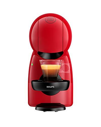 Krups Piccolo KP1A05 - Cafetera cápsulas Nestlé Dolce Gusto de 15 bares de presión y 1500 W de potencia con depósito de 0,8 L, monodosis multibebidas frías y calientes, manual, color rojo y negro