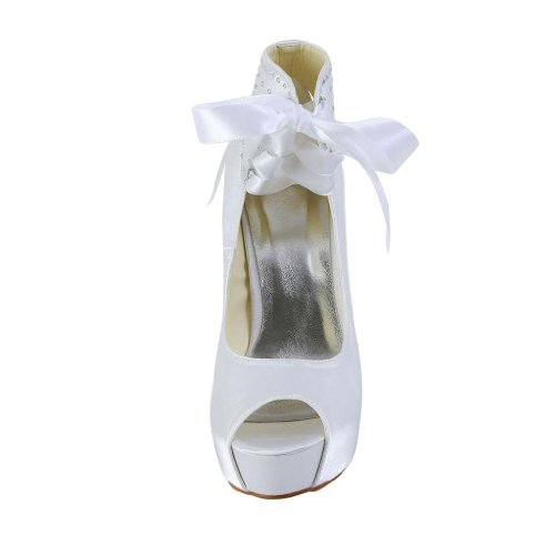Jia Jia Wedding 20115 Scarpe Sposa Scarpe col tacco donna Bianco