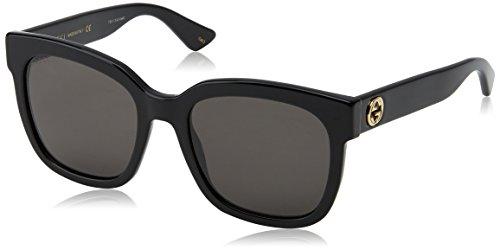 Gucci Damen GG0034S 001 Sonnenbrille, Schwarz (Black/Grey), 54