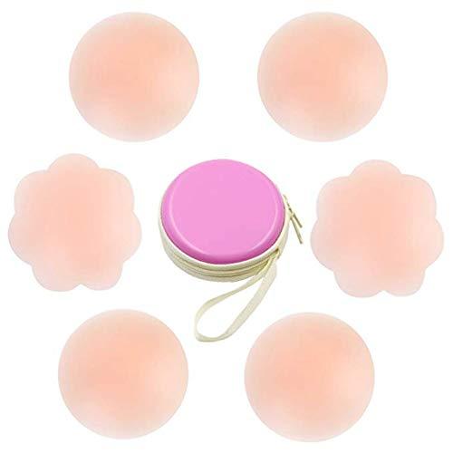 Silikon Nipple Cover Lift Unsichtbare Brust Blütenblätter Adhesive BH Wiederverwendbare Nippel-Abdeckungen für Frauen -