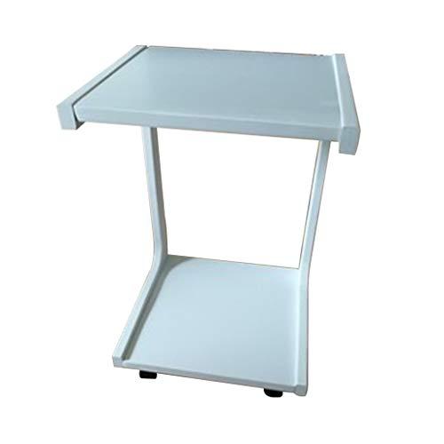 WQZB-Tabelle Laptop-Schreibtisch Einstellbare U-förmigen Kleinen Kaffeetisch Laptop Tray Massivholz Kleine Schreibtisch Holz Handwerk Material Schreibtisch für Sofa/Schlafzimmer / Overbed (Weiß) - , U-förmigen Schreibtisch