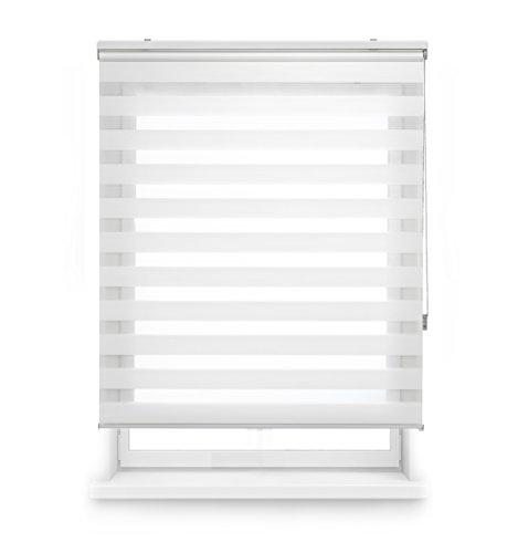 Blindecor Lira - Estor Enrollable Doble Tejido, Noche y día, 120 x 250 cm, Color Crema