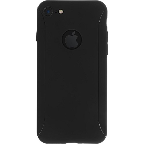 PhoneNatic Case für Apple iPhone 7 Hülle dunkelblau 360° Fullbody Hard-case für iPhone 7 Case Schwarz