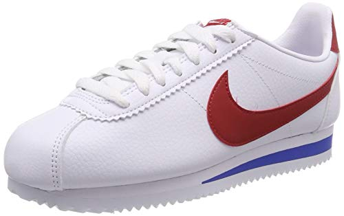 47df62f33b2 Nike Classic Cortez Leather Zapatillas de Running, Hombre, Blanco (White  Red/Varsity