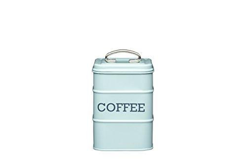 Kitchen Craft Aufbewahrungsdose für Kaffee, Edelstahl, aus der Living-Nostalgia-Produktreihe, Blau