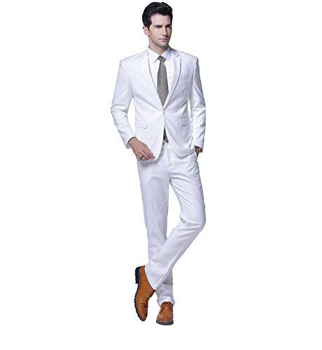 Anzug Herren 3-Teilig Anz/üge Business Smoking Slim Fit Anzugjacke Party Anzughose Sakko Weste Hose Herrenanzug L/ässiger Blazer Coat Jacket