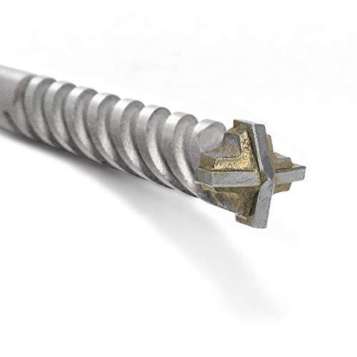Fischer D-SDX Bohrer zylindrisch Vierkant für Mauerwerk, Beton und Stein, Tungsten-Karbidplatte, für handelsübliche Bohrmaschine und Bohrschrauber mit Zylinderanschluss, 545692