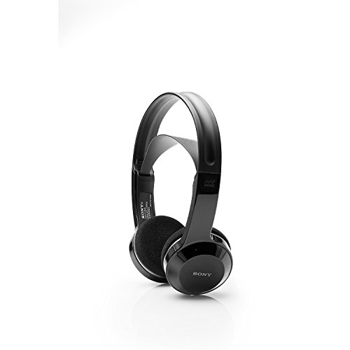 Sony Cordless Rechargeable Lightweight Headphones-Black