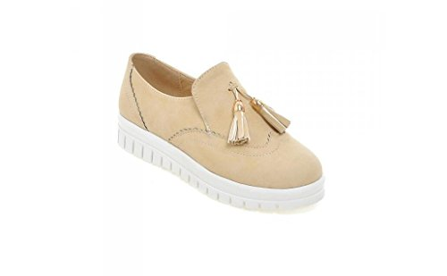 Beauqueen Casual Shoes primavera e in autunno piatto Stivaletti Tassel Matte delle donne Red
