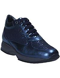 Keys Scarpe Donna Sneaker Pelle Blu 7007-BLU d41744bf404