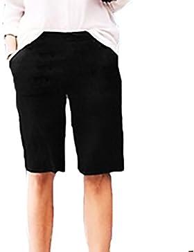 Adelina Donna Pantaloncini Bermuda Estivi Moda Puro Colore Casual Comode Sciolto Taglie Forti Shorts Basic Abbigliamento...